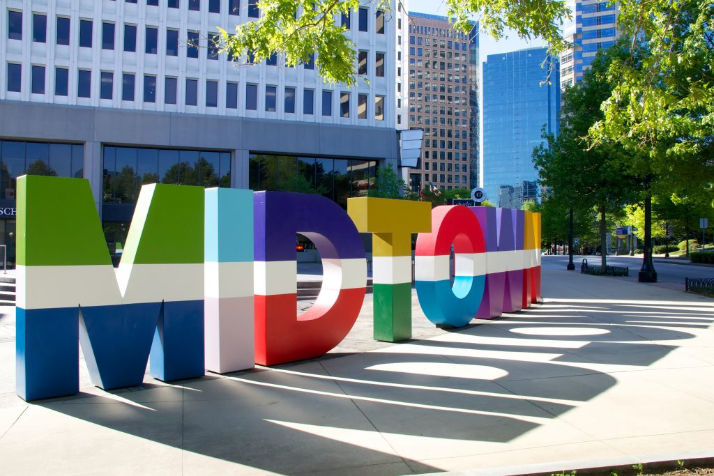 Midtown 3D signage installed to promote the Midtown Area of Atlanta, GA.